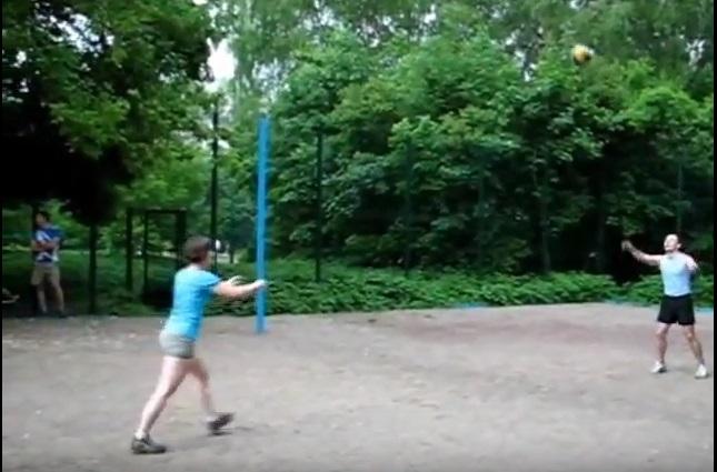 Волейбольная площадка в Кусково