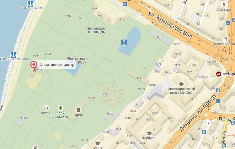 Площадки в парке Горького