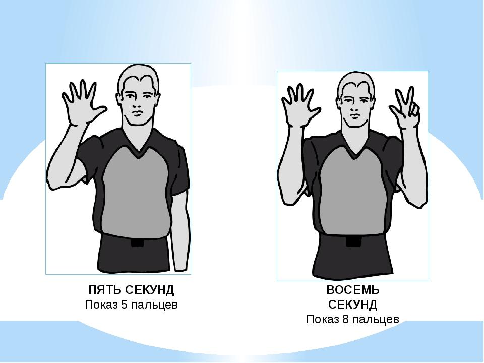 Число пальцев у судьи означает число тех самых секунд